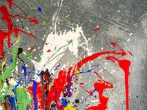 Paint smudges. Color chaos. Mixed different colors. Expressionism. Paint smudges. Color chaos. Mixed different colors Expressionism stock photo