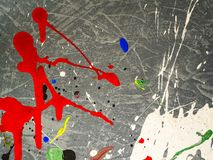 Paint smudges. Color chaos. Mixed different colors. Expressionism.  royalty free stock images