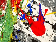 Paint smudges. Color chaos. Mixed different colors. Expressionism.  stock photography