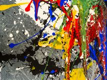 Paint smudges. Color chaos. Mixed different colors. Expressionism.  stock images
