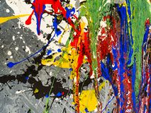 Paint smudges. Color chaos. Mixed different colors. Expressionism.  royalty free stock photo