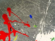 Paint smudges. Color chaos. Mixed different colors. Expressionism.  stock photos