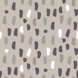 Paint splash brushstrokes seamless vector gray brown pattern. Stock Images