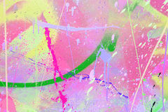 Paint spatter. Bright paint spatter on a wall Royalty Free Stock Images