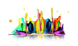 Paint splash. Paint drops done in adobe. ai file available Royalty Free Stock Image