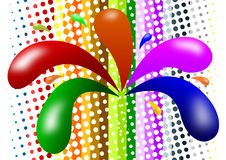 Paint splash. Vector illustration of paint splash in assorted colors Royalty Free Stock Photo