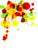 Paint Splash. Illustration of multi-colored paint splashes on white background Royalty Free Stock Photography