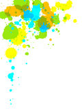 Paint Splash. Illustration of multi-colored paint splashes on white background Stock Image