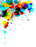 Paint Splash. Illustration of multi-colored paint splashes on white background Royalty Free Stock Image