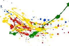Paint Splash. Ed over white background Stock Photo