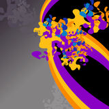 Paint Splash. Abstract background with rainbows and paint splash royalty free illustration