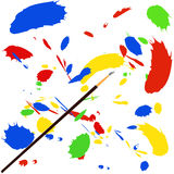 Paint splash. With a brush Royalty Free Stock Images