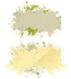 Paint splash banners Nr1. Banners with grunge and paint splash design elements Royalty Free Stock Photos