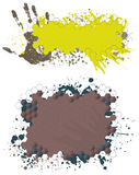 Paint splash banners Nr2 Stock Photo