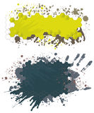 Paint splash banners Nr3. Banners with grunge and paint splash design elements Royalty Free Stock Photography