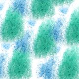 Paint splash blue green ink blot and white abstract art brushe. S isolated Royalty Free Illustration