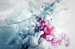 Paint of splash, blue and red abstract Royalty Free Stock Photo