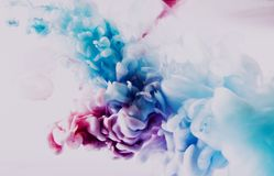 Paint of splash, blue and red abstract Stock Photos