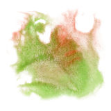Paint splash color ink watercolor isolate lime stroke splatter green red watercolour aquarel brush Stock Photo