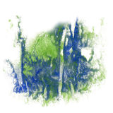 Paint splash color ink watercolor isolate stroke blue green splatter watercolour aquarel brush Royalty Free Stock Image