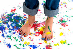 Paint Splash Feet Royalty Free Stock Photo