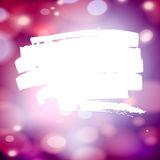 Paint splash frame for text on abstract bokeh Royalty Free Stock Photo
