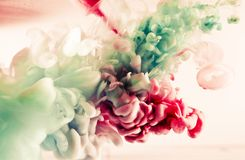 Paint of splash, green and red abstract Royalty Free Stock Image