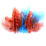 Paint splash ink blue, red stain watercolour blob Stock Photography