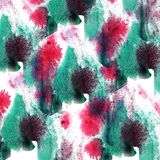 Paint splash ink red, green blot and white abstract art brushe. S isolated stock illustration