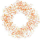 Paint Splash Spray. Abstract Blot of Dots. Explosion of Circles. Design element.. Vector illustration Stock Photos