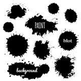 Paint splash. Vector set of brush strokes Royalty Free Stock Photography