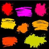 Paint Splash. Vector set of Brush Strokes Stock Image