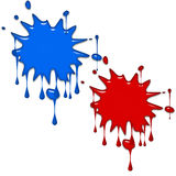 Paint splashes. Red and blue paint splashes background Royalty Free Stock Photo