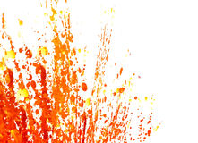 Paint Splashes. Splashes of red, orange and yellow paint on a white background Stock Photography