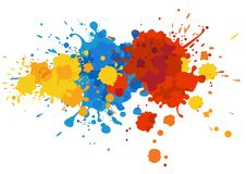 Paint splashes Stock Images