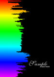 Paint splashes  with  rainbow gradient Royalty Free Stock Photos