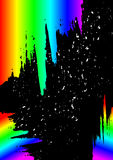 Paint splashes  with  rainbow gradient Royalty Free Stock Photo
