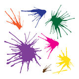 Paint splashes set for design use in Vector Format. Color can be changed by one click Royalty Free Stock Photography