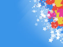 Paint Splashes and Stars Background Stock Image