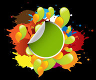 Paint splashing Royalty Free Stock Photography