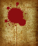 Paint Splat. A red paint splat on a rusty metal surface vector illustration