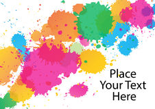 Paint Splat Abstract Border Stock Photo