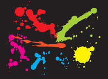Paint splat background Royalty Free Stock Photo