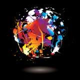 Paint splat circle Royalty Free Stock Images
