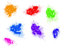 Paint splat collection Stock Photo