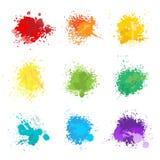 Paint splat colors vector illustration