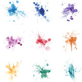 Paint splat colors set collection Stock Image