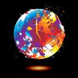 Paint splat globe vector illustration