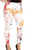 Paint splat leggings Royalty Free Stock Images