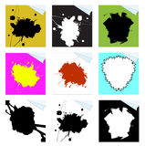 Paint Splat Page Curls Royalty Free Stock Photography